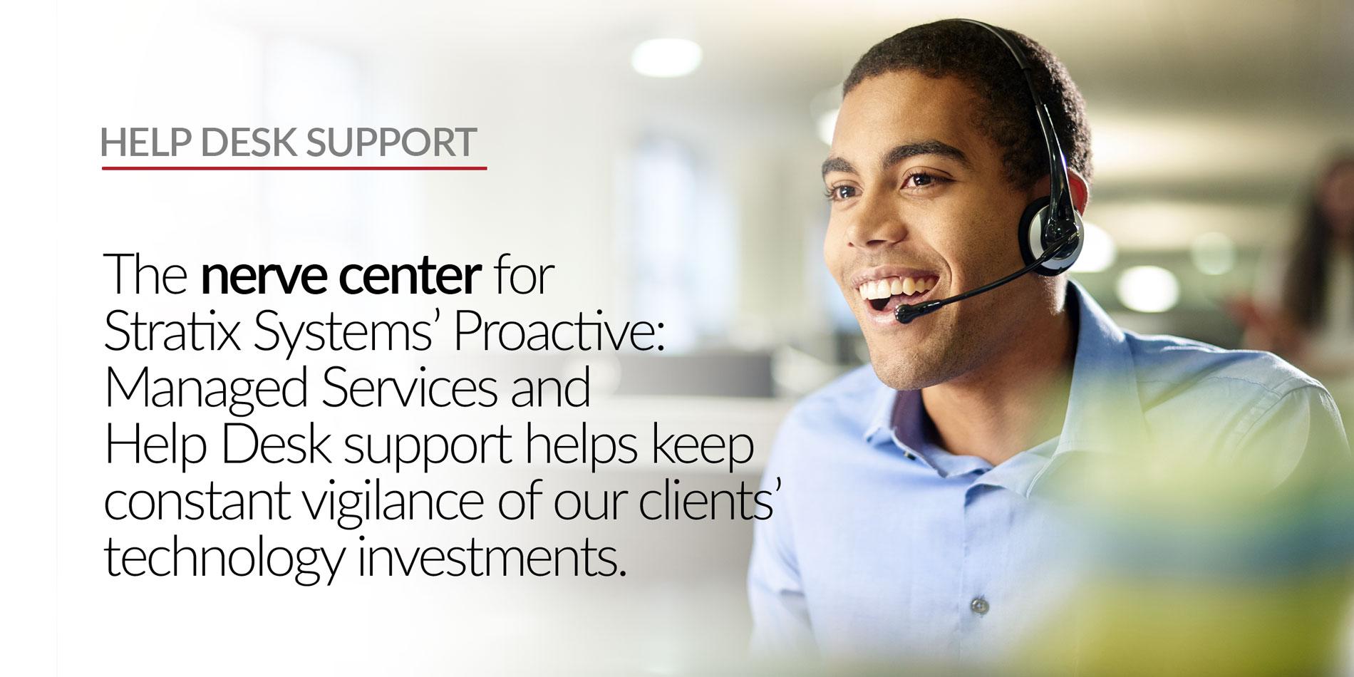 Stratix Systems Help Desk Support Header