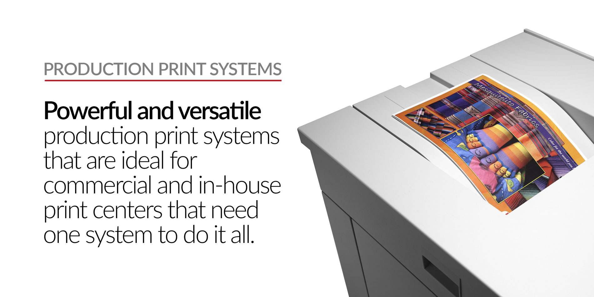 Stratix Systems Production Print Systems Header